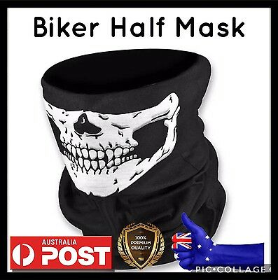 Skull  Face Mask Bike Biker Ski Snowboard Hog Scooter Halloween