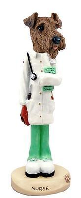 Airedale Terrier Nurse Collectible Resin Figurine Statue