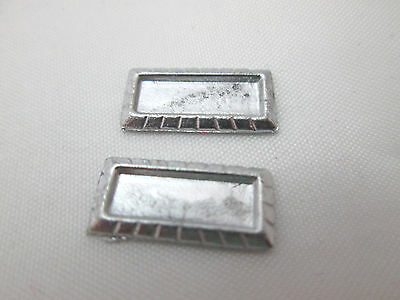 2 Dollhouse Miniature Unfinished Metal 144th Scale Fireplace Mirror