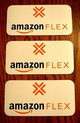 "3 Small AMAZON FLEX  100% Magnetic CAR VEHICLE SIGNS   3"" x 6"" FREE SHIPPING!"