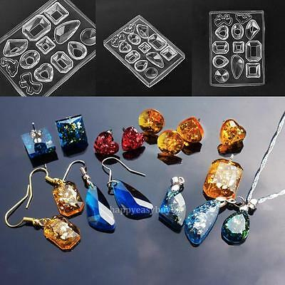 Silicone Mold DIY Mould Resin Craft Tool for Earrings Pendant Necklace Making