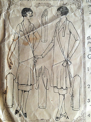 Complete Vintage Original 1920s Flapper Dress Sewing Pattern McCall 4172 Size 36