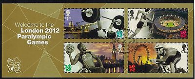 Great Britain 2012 Recent Used #3076 Paraolympics Souvenir Sheet VF (Sc $12.50)