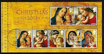 Great Britain 2013 Recent Used #3238 Christmas Souvenir Sheet VF (Sc $22.00)