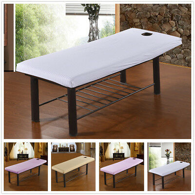 Beauty Massage Bed Cover Table Elastic Treatment Couches Sheet +Face Breath Hole