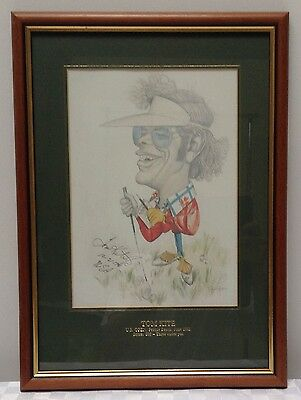Tom Kite Limited Edition Golf Print by Tony Rafty