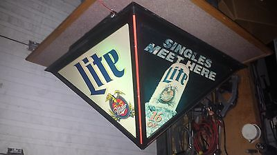 (X5) 1995 Miller Lite Drop Ceiling Light Cover (2x2) Rare & Hard To Find