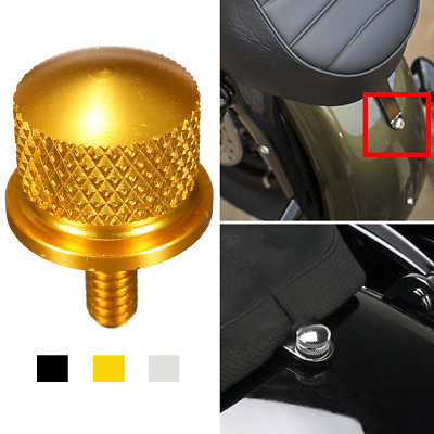 Billet Rear Seat Mount Bolt Knurled Screw For Harley 1/4'' thread  Sportster