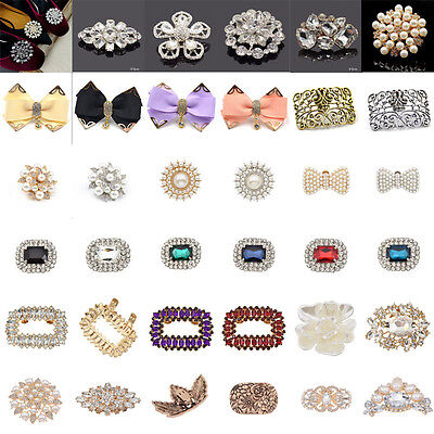 1PC Wedding Bridal Rhinestone Crystal Shoe Clip Buckle Removable Sandals Decor