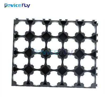 1/2/10PCS 18650 Battery 4x5 Cell Spacer Radiating Shell Pack Plastic Heat Holder