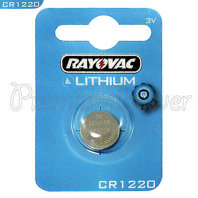 1 x Rayovac Lithium CR1220 battery 3V Coin Cell KRC1220 BR1220 DL1220 EXP:2021