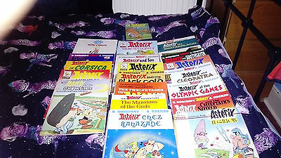 Asterix books (varying quality)