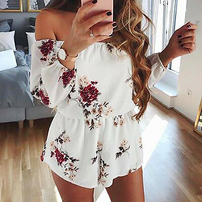 Hot Women Ladies Clubwear V Neck Playsuit Bodycon Party Jumpsuit&Romper Trousers