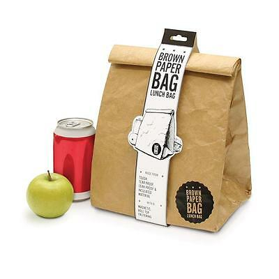 Luckies Brown Paper Bag School Lunch Bag Reusable Insulated Unique Retro Style