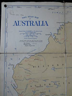 1910 HUGE REAL WALL MAP Australia w/ industry exports mining gold British Empire
