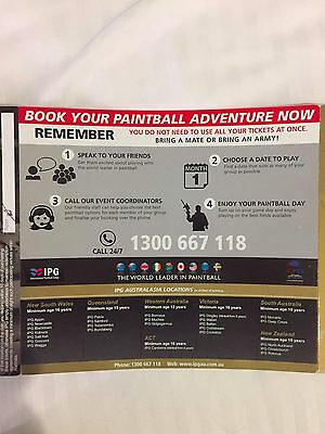 Paintball Entry Tickets