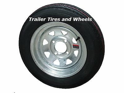 Eco Trail 4 80 12 Lrc Bias Boat Trailer Tire Wheel Silver Spoke 5