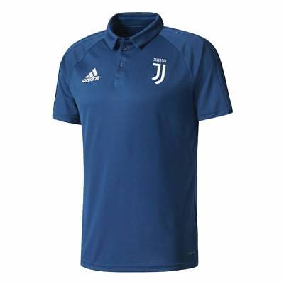 adidas Juventus Training Polo Shirt 2017/18 - Blue - Mens