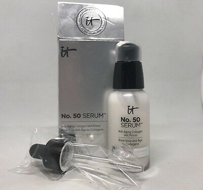 It Cosmetics No. 50 Serum Collagen Veil Anti-Aging Primer 1 Fl Oz New! In Box!