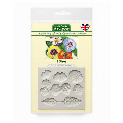 Katy Sue Designs PANSIES CE0061 Cake Crafting Mould 40mm x 35mm 28mm x 26mm