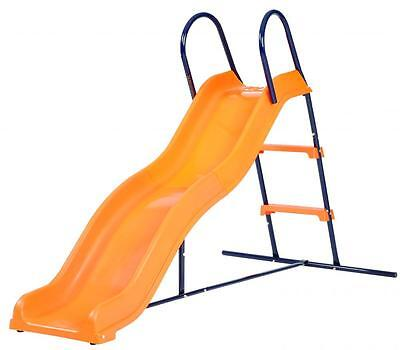 Hedstrom Kids Outdoor Playground Slide With Wavy Chute Steel Frame M08684-01