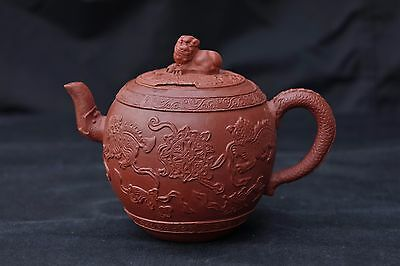Antique Chinese Yixing Pottery Teapot - Kangxi Period