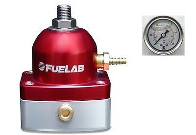 FUELAB EFI Fuel Pressure Regulator 515 Series & Pressure Gauge (RED)  #51502-2