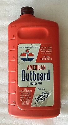Vintage American Outboard Motor Oil Container American Oil Co Chicago Usa Plasti