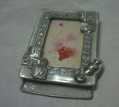 Solid Pewter Mini Baby Photo Frame, Baby Shower / Christening Gift!