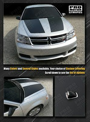 Dodge Avenger 2008-2014 Hood Racing Stripes Decals (Choose Color)