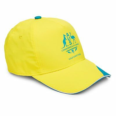 NEW Commonwealth Games Gold Coast 2018 Curved Visor Adjustable Cap by Diadora