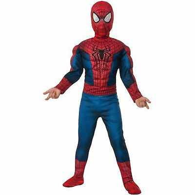 Marvel Ultimate Boy Spider-Man Muscle Chest Dress Up Party Jumpsuite Costume