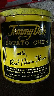 vintage potato chio metal can Tommy Dale Reading PA Berks county tuckerton