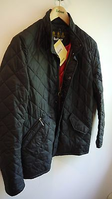 Barbour Flyweight Chelsea Quilted Jacket, Black, Small, New With Tags