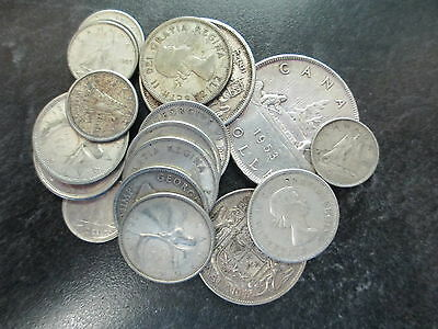 Lot Of $5 Dollars Mixed Silver Canadian Face Value 80% Silver