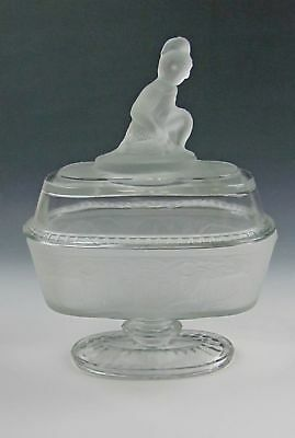 Wright Glass WESTWARD HO Compote with Lid  EX