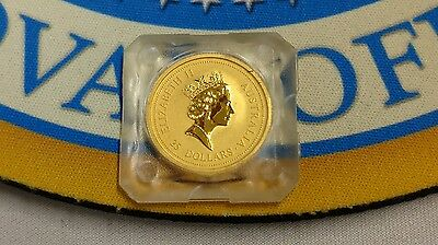 1996 $25 .9999 Gold 1/4 oz Australian Nugget Coin in Plastic - Excellent!
