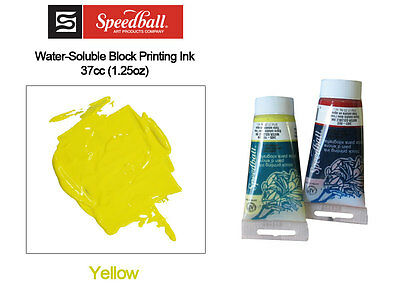 Speedball Water Soluable Block Printing ink Yellow 37cc