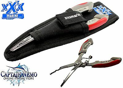 Xxx Marine Stainless Steel Split Ring Fishing Tool Pliers & Carry Pouch Ft3 Ft4