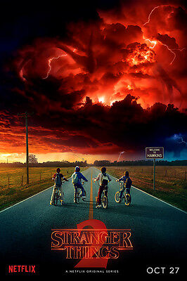 "Stranger Things 2017 Poster 36x24"" 21x14"" Season 2 TV Series Decor Print Silk"