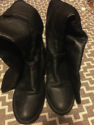 Women's Size 8.5 Steve Madden Leather Over The Knee Boots