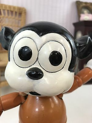 "1930s 9.5"" Wood and Composition Bimbo Doll!  Betty Boops Dog!"