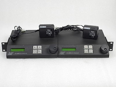 BUF Technology VTC-2000 R DUAL RACKMOUNT VTR CONTROLLERS with Power Supplies