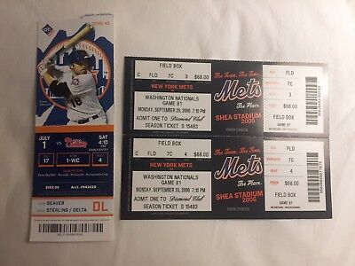 Seven Baseball Tickets Ny Mets, Tigers + 1989 Gregg Olson Rookie Card