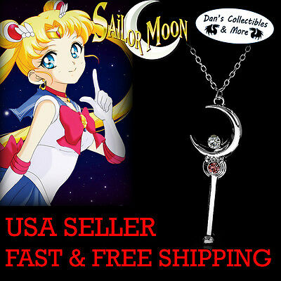 Sailor Moon Silver Crystal Cosplay Necklace Accessories Gifts Chain US SHIP!