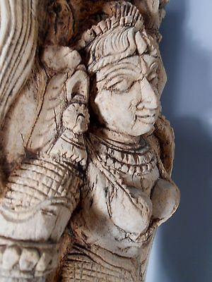 India Indian Hindu Carved Female Attendant Tanjore 18th c Ex. Aparna Art Gallery