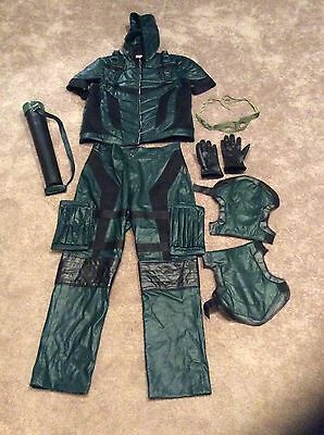 XCOSER Green Arrow Costume Season 4 Green Cosplay Outfit Suit SZ XL