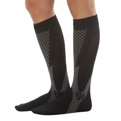 2 Pairs Compression Knee Stocking Support Stretch Running Men Socks Protect S/M