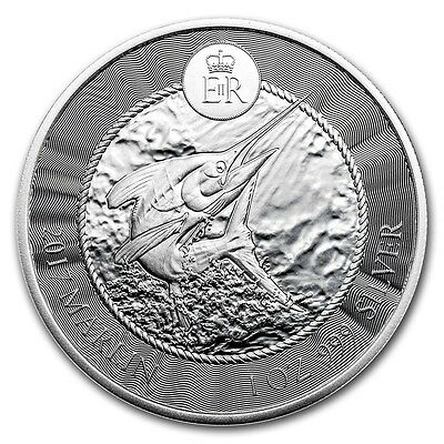 2017 1 oz Cayman Islands Silver Marlin Coin (BU)