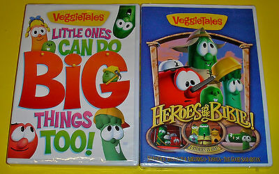 VeggieTales DVD Lot - Little Ones can Do Big Things Too (New) Heroes of Bible